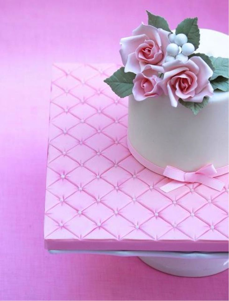 Cake boards don't have to be left plain and drab. Create an oh-so-girly quilted board, perfect for displaying the simplest or most elaborate of cakes!