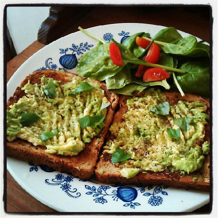 Avocado and Marmite on toast