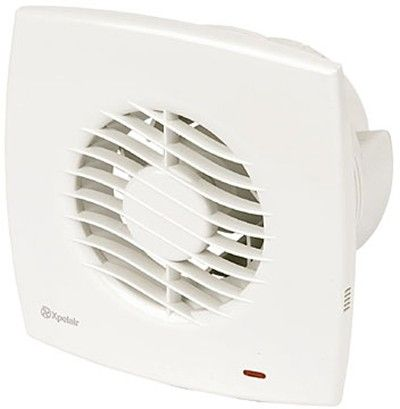 Standard extractor fan in white. 100mm. Single speed axial unit by remote switch, normally lighting circuit. Shallow depth of outlet spigot ensures compact window installation. Comes complete with a universal mounting kit (wall tube, gasket x 2, outer grille, skirt moulding for window). Suitable for wall, ceiling & window mounting. The DX range includes an air operated backdraught shutter, outer grille and ducting. 3 Year guarantee. IPX5 Rated. €38.79 inc VAT & Delivery