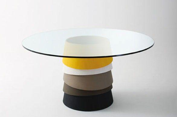 """tavolino """"Layer"""", realizzato da Luca Nichetto per Gallotti"""