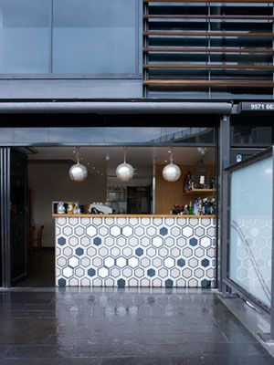 fabulous bar with tile from Popham Design