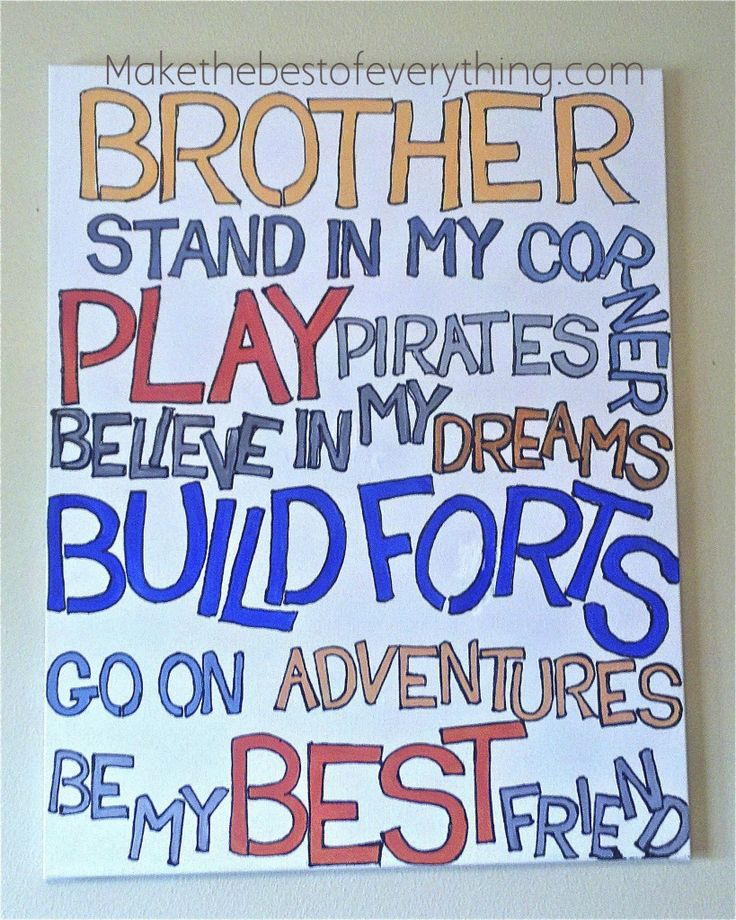 Cute gift for any brother or Pair of brothers:)