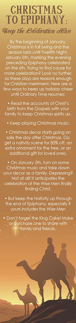 "Keep Christmas Alive Through Epiphany - instead of the ""up the day after Thanksgiving, down on Dec. 26!"""