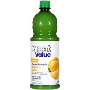 Great Value 100% Lemon Juice, 32 oz