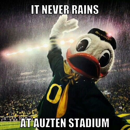 It never rains at Auzten Stadium
