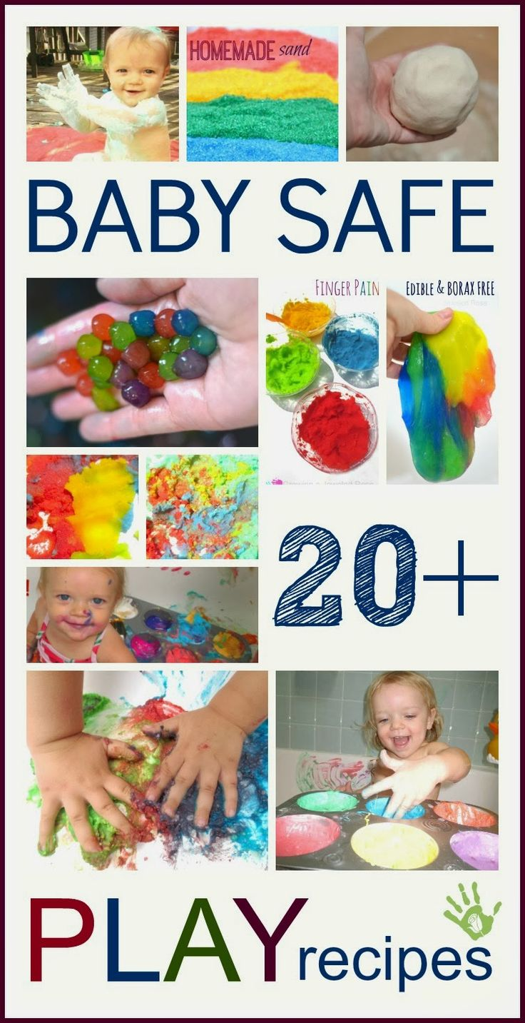 What can baby do? TONS! Here is a collection of paint & play recipes perfect for babies! These can easily be made at home using common home and are fun for kids of all ages!