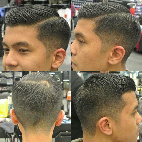 asian comb over men