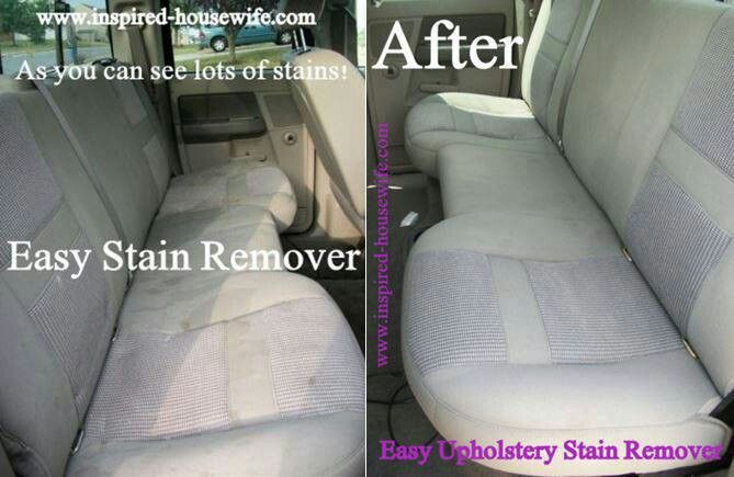 Even if you take really good care of your car, stains still happen. When I spill something, I use this tip and a little bit of vinegar to keep stains from setting into my upholstery permanently.
