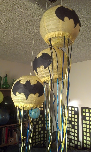 Easy Batman pinata tutorial using paper lanterns Awesome need to do this for Mace's birthday party