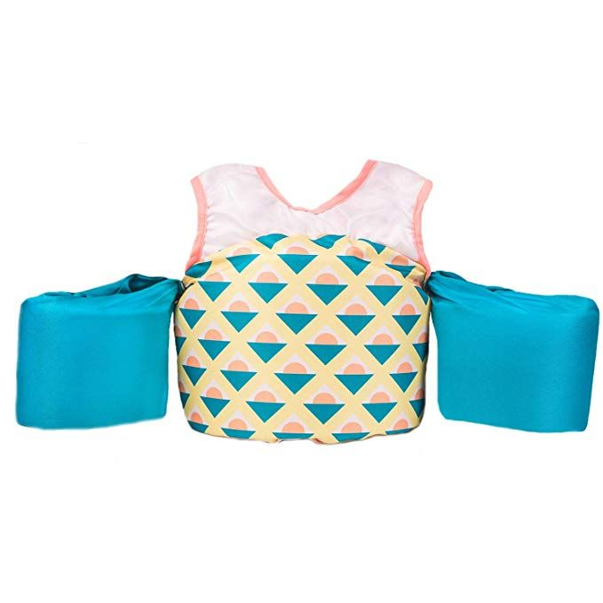 Little Fin Swimmer Float Vest For Pool Pink Yellow Blue Kids Life Jacket From 30 To 50lbs Toddler Swim Toddler Swim Vest Kids Life Jackets Toddler Swimming