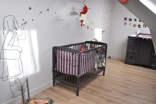 babykamer / nursery love the wall art