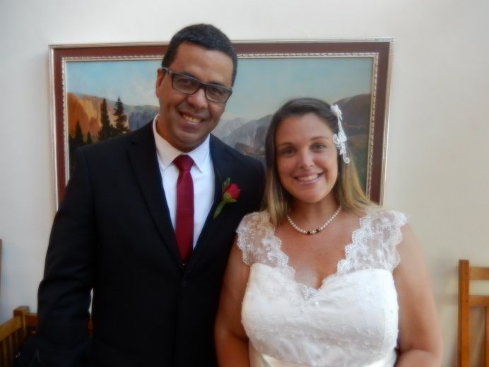 """I officiated the wedding of Jorge Marcelo Santana Pontes and Luciana Camuzicouto at the Wilderness Lodge """"Sunrise Terrace""""  The service was in Portuguese translated by the grooms daughter.  The family lives in Rio De Janeiro, Brazil."""
