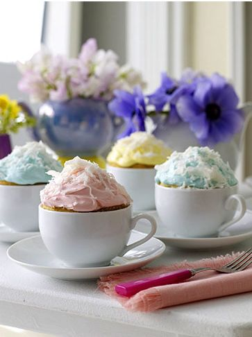 cupcakes for a tea party or mad hatter theme?Cup Cakes, Ideas, Teas Cups, Cupcakes, Cups Cake, Bridal Shower, Tea Cups, Teacups, Teas Parties