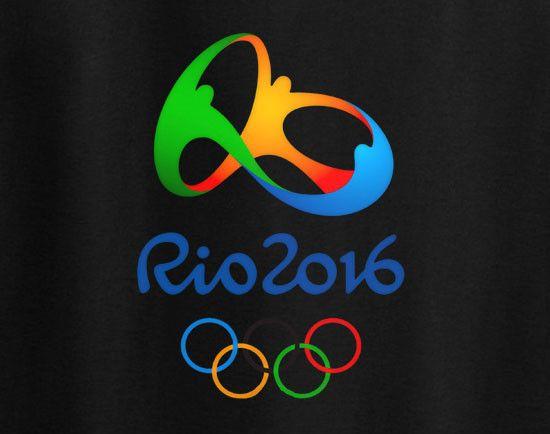 Rio De Janeiro Rio 2016 Summer Olympics Logo pin Tee T-Shirt                                                                                                                                                      Mais