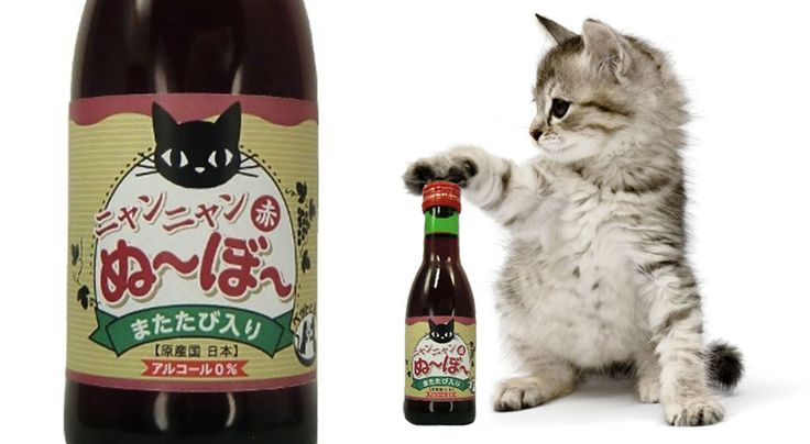 Japanese Brand Creates Wine for Cats #packaging. Too cute or just plain weird? What do you think Andrea? PD
