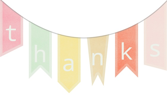 Breathtaking image with thank you banner printable