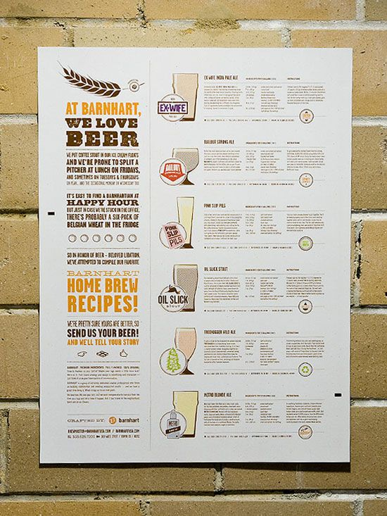 homebrew recipe poster, behance