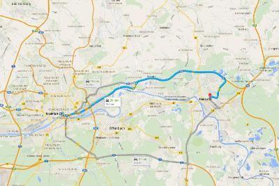 Viaggio sulla Strada delle Fiabe - Mappa da Francoforte
