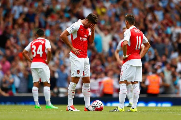 The 2015-16 Premier League opener (8/9/15): Arsenal 0, West Ham United 2... it's gonna be a long season... :-(