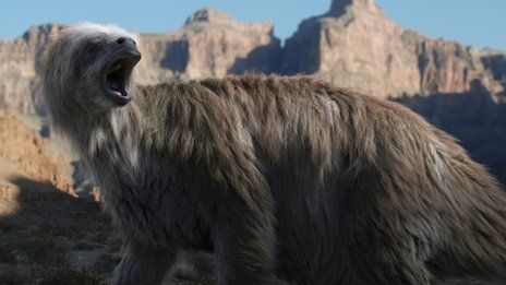 Shasta ground sloth, from the BBC series Ice Age Giants