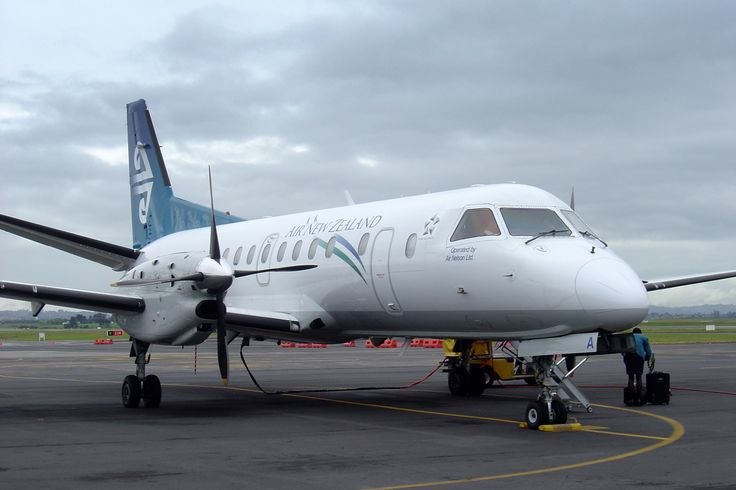 We flew in an Air New Zealand Saab 340 (operated by Air Nelson) from New Plymouth to Auckland.