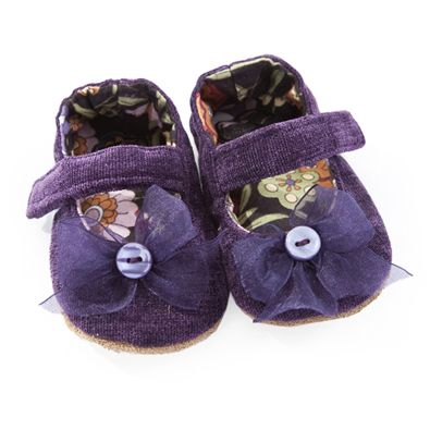 Purple velvet Mary Jane