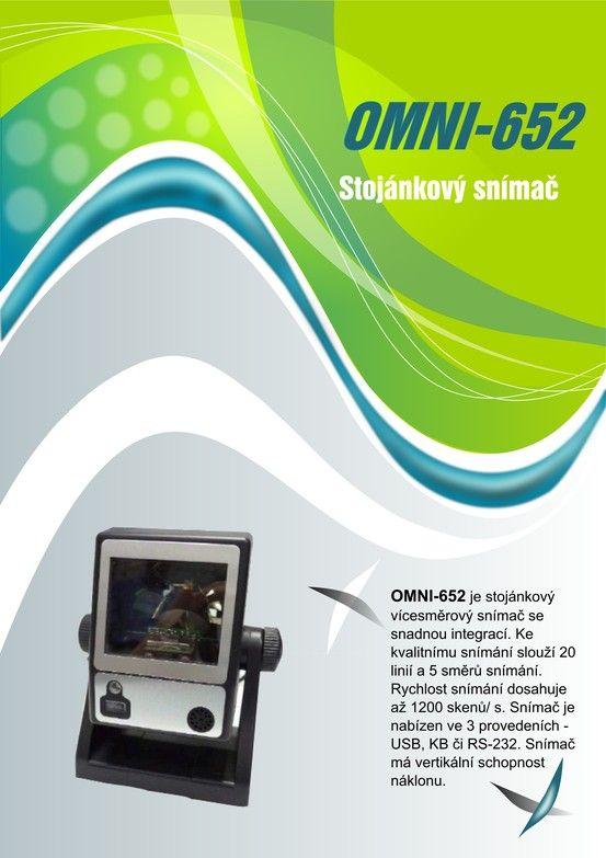 Stojánkový snímač Omni-652 strana 1 Pillar Scanner Omni-652 page Nr. 1