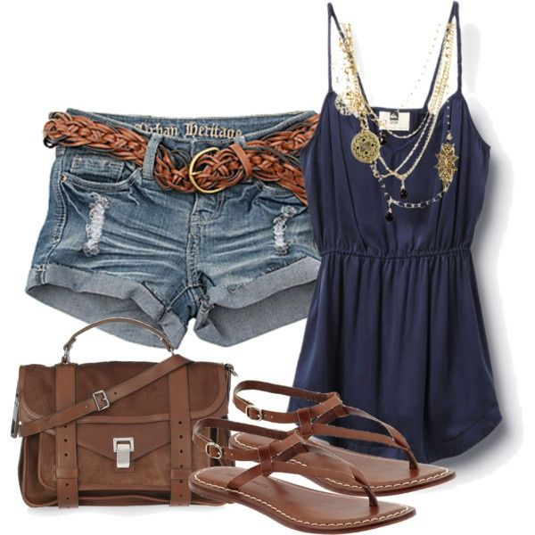 love this outfit... just a little longer shorts please... and add a throwover top for some coverup