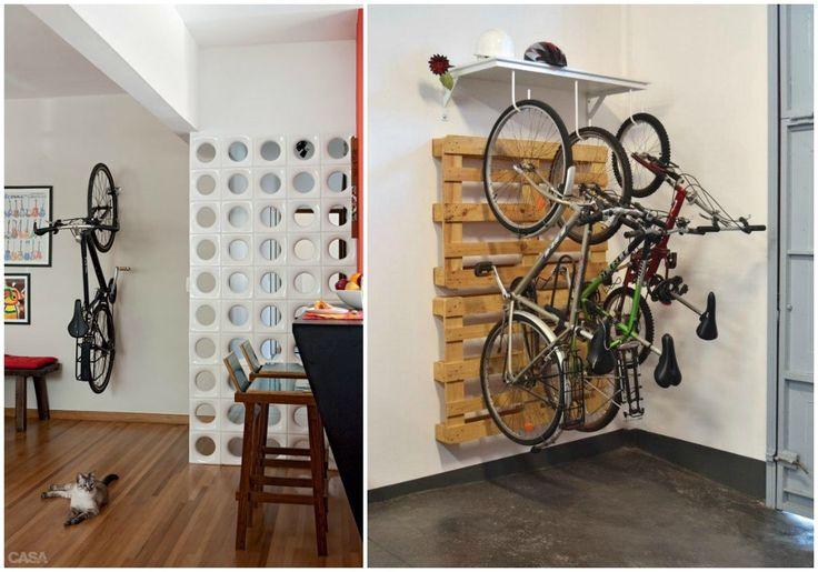 02 bicicleta dentro de casa colgada pared guardar la - Ideas para trasteros ...