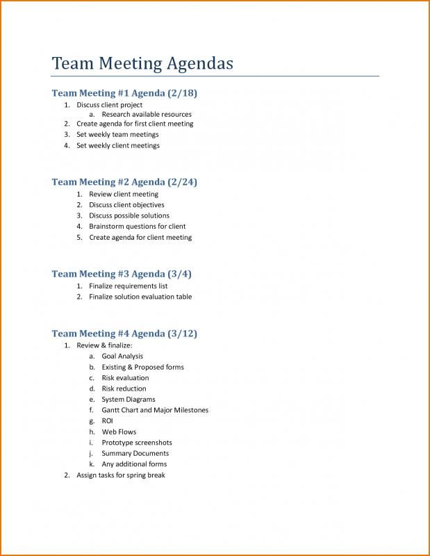 Team Meeting Agenda Template template Meeting agenda template