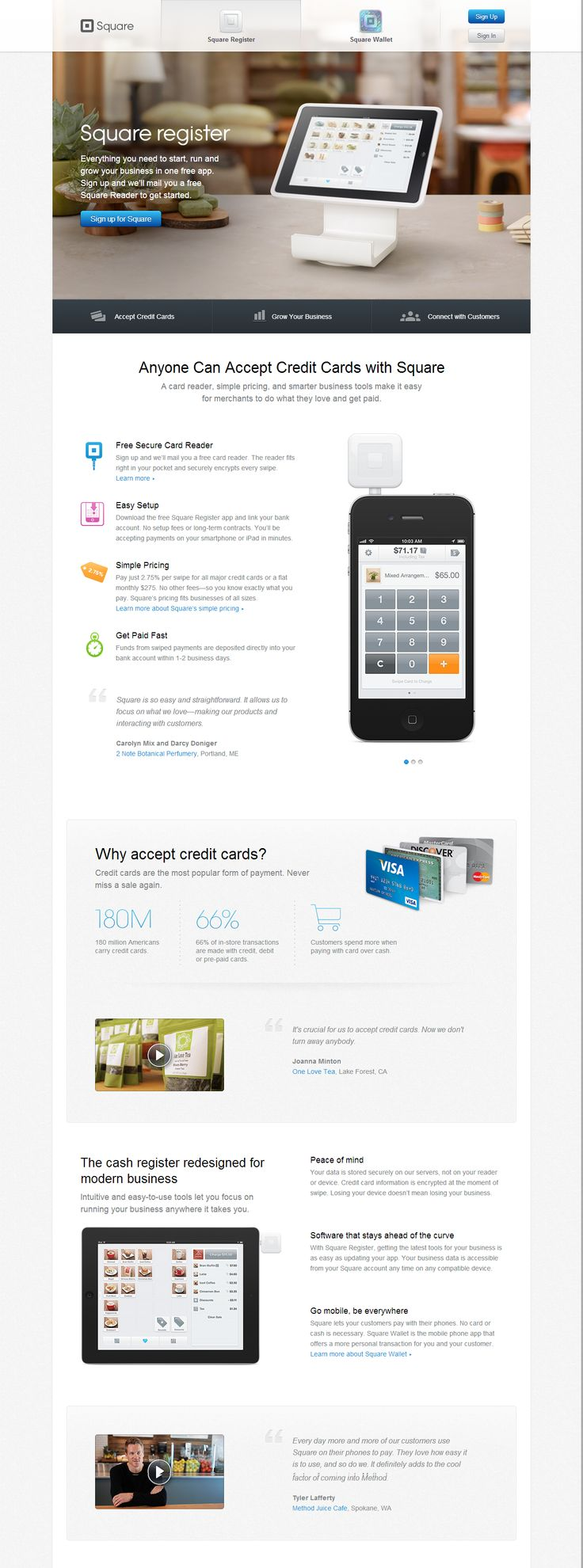 The 45 best squareup landingpage images on pinterest screens 1 pos system point of sale software with no monthly fee reheart Image collections
