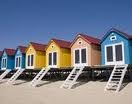 beach-cabins love the colors