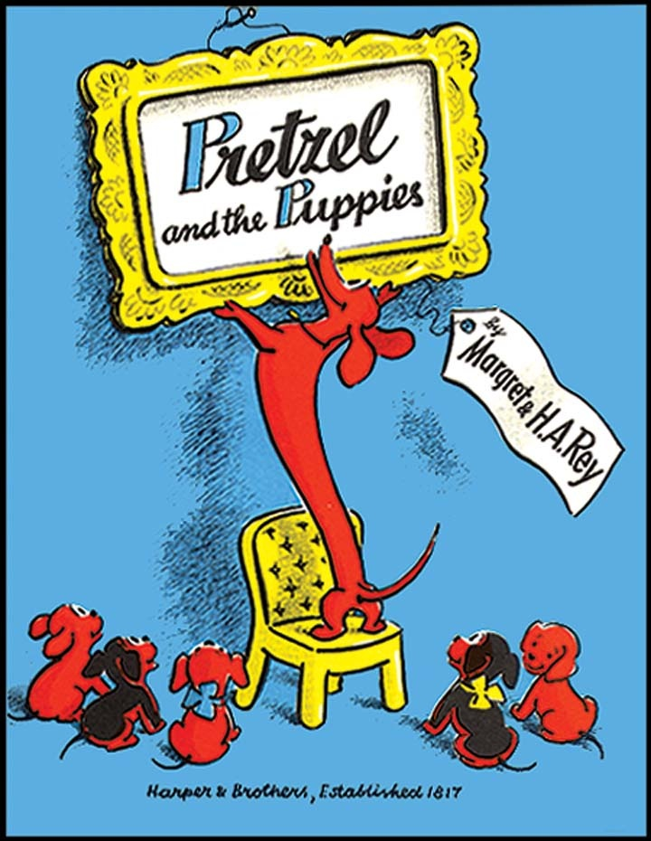 PRETZEL AND THE PUPPIES by Margaret Rey
