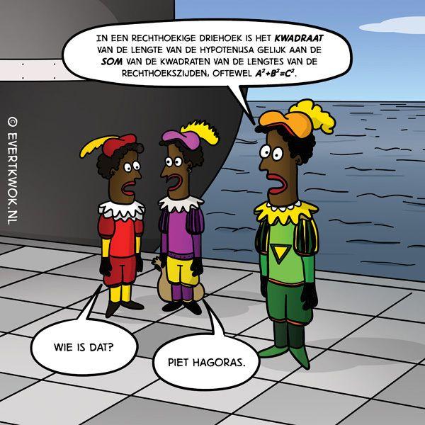 Wie is dat? #cartoon #zwartepiet
