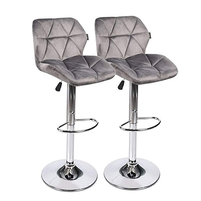 Fantastic Bar Stools Modern Swive Adjustable Barstools Sets Of 2 Machost Co Dining Chair Design Ideas Machostcouk