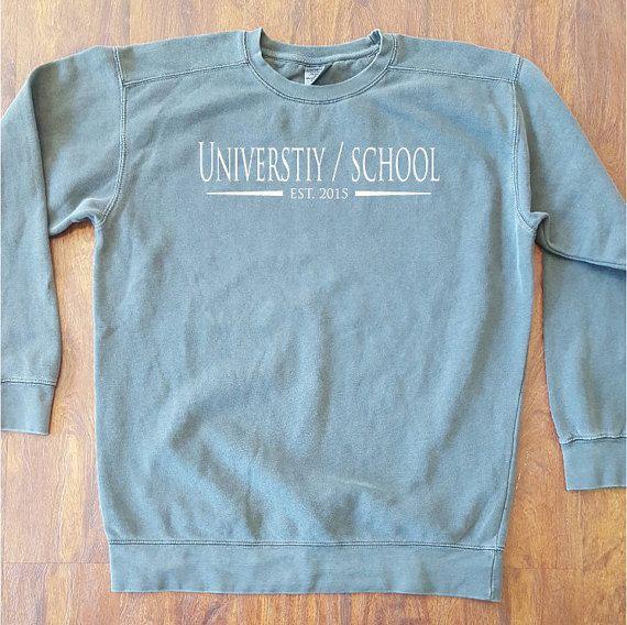 Customized School Comfort Colors Sweatshirt by BolingbrookApparel