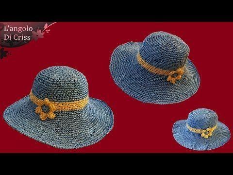 Ecco come realizzare un delizioso cappello lavorato all'uncinetto, facile e velocissimo da fare. Questo cappello può essere ideale da utilizzare sulla spiaggia