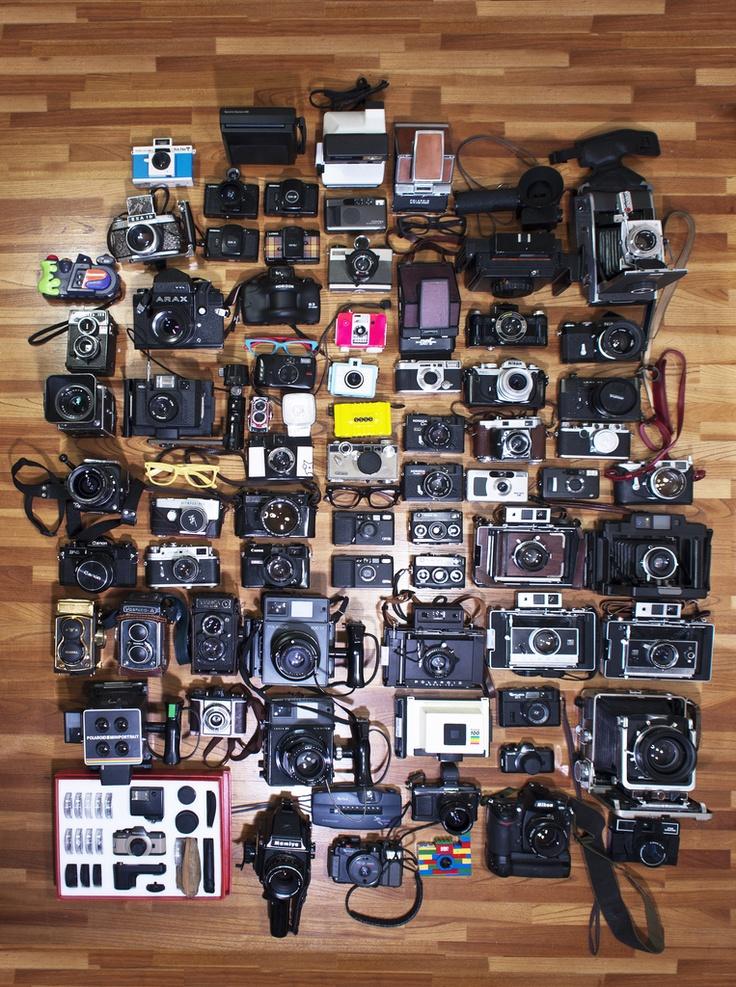 fuji, Camera collection syndrome, polaroid, canon