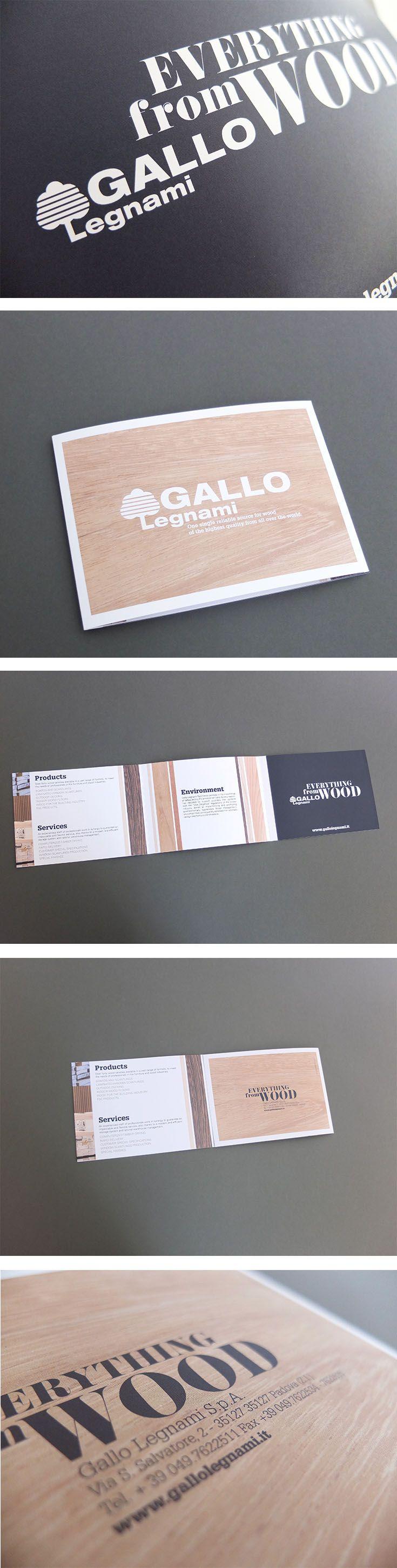 Pieghevole Gallo Legnami, un progetto #effADV - Gallo Legnami #printing, effADV project - #wood #leaflet #brochure