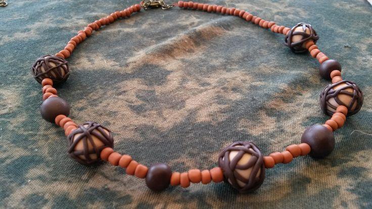 FIMO gyöngysor - őszi színek FIMO necklace - colors of autumn