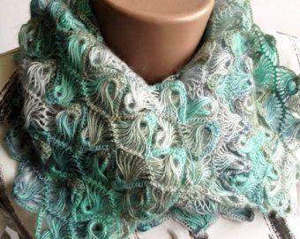 Tornante Loom sciarpa / bella sciarpa / calce di ElenaVorobey