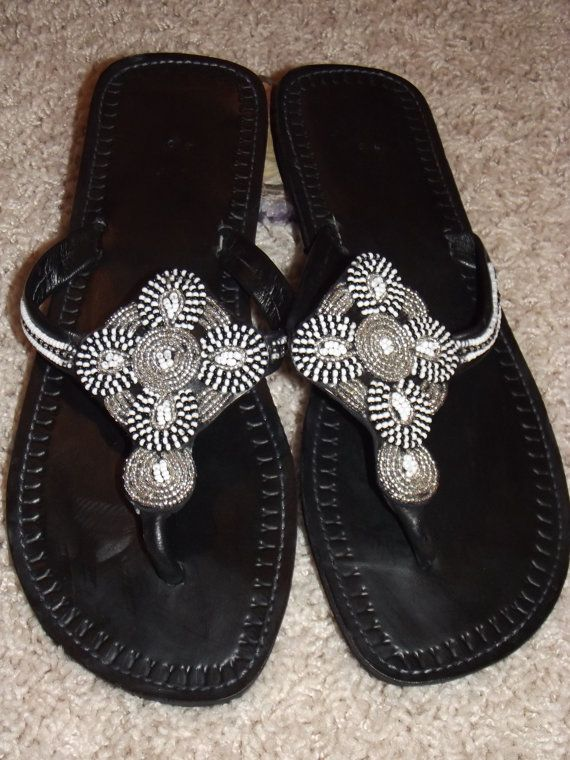Kenyan African Sandals Leather Beaded 28 Products