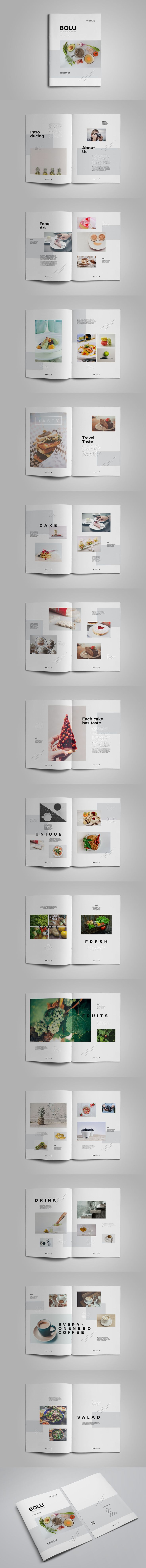Food Photography Brochure Template InDesign INDD - 30 unique pages, A4 & Letter sizes