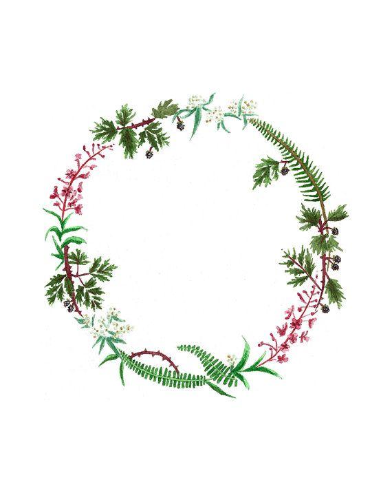 Olympic Peninsula Wreath Print