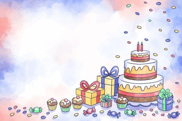 Watercolor Birthday Background Birthday Background Happy Birthday Lettering Watercolor Birthday