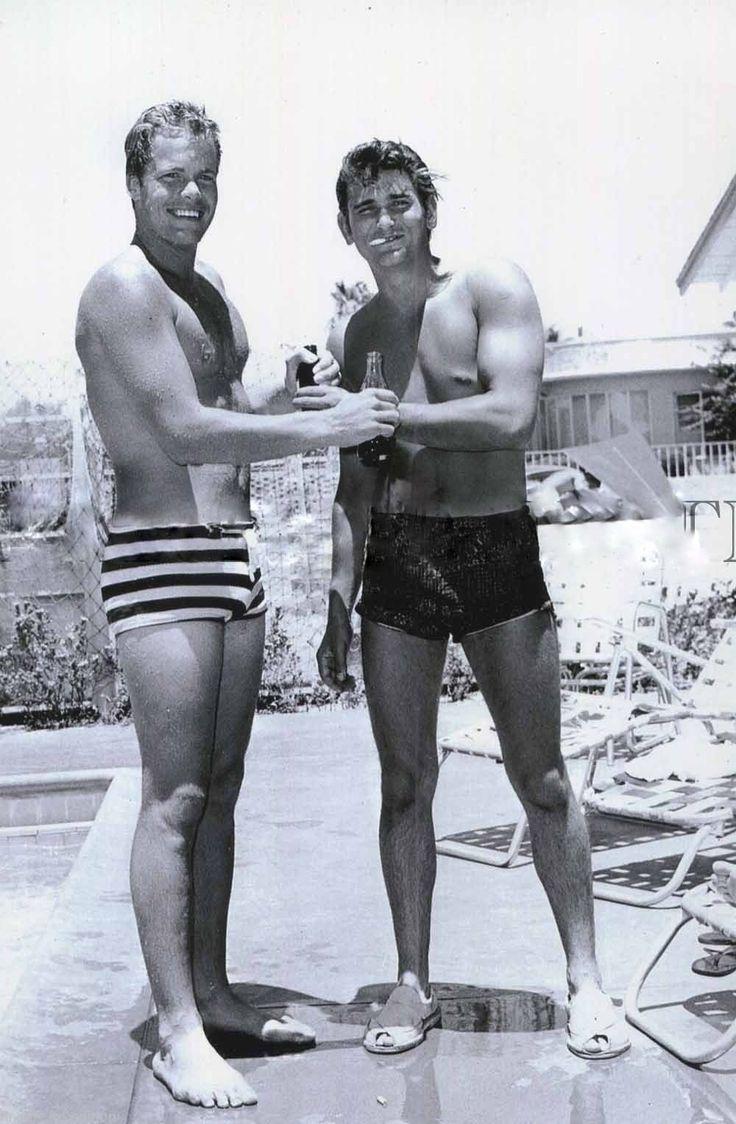Doug McClure (left) of The Virginian (1962-71) and Michael Landon of Bonanza…