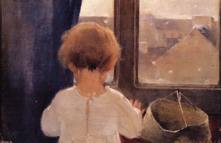Helene Schjerfbeck - Pikkutytön niska 1883