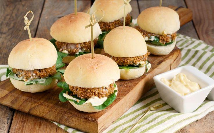 Mini hamburger alla senape