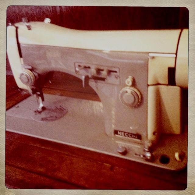NECCHI sewing machine. Villa Necchi Campiglio, Milan.