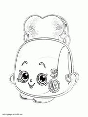 Toasty Pop. Shopkins season 2 of series colouring pages